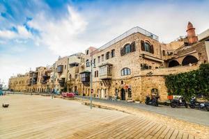 gamla hamnbyggnader i yafo, Israel