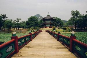 koreansk paviljong foto