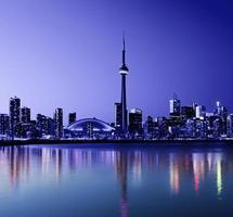 toronto stadshorisont i Kanada foto