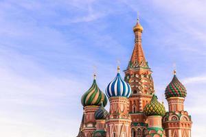 moskva. st.basil katedral foto