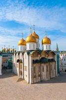 ryssland. moskva. antagande domkyrka i kremlens ortodoxa kyrka, patriarkalsk katedral foto