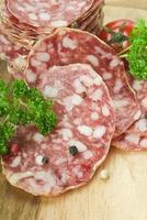 italiensk salami foto