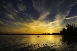 solnedgång reflektion 2 foto