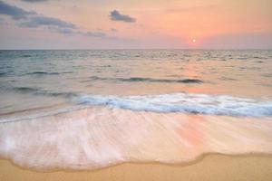 strand solnedgång foto