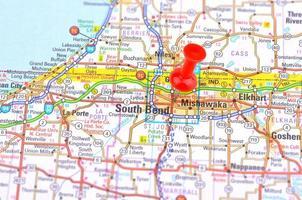 södra böj och karta foto