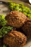 hälsosamma vegetariska falafelbollar