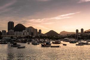 solnedgång i rio de janeiro foto