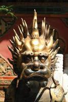 kinesiska löwenstatue foto