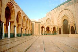 ii. hassan moské, casablanca, marocko foto