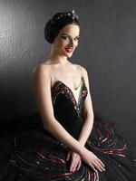 porträtt av en vacker ballerina foto