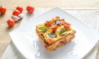 lasagne med körsbärstomater foto