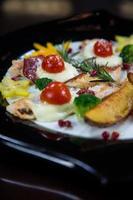 kycklingbiff med prosciutto och ost