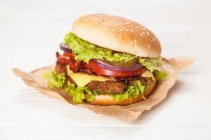 läckra hamburgare foto