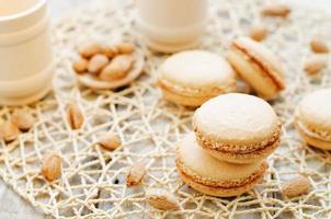 macaron med gräddost foto