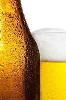 öl med flaska foto