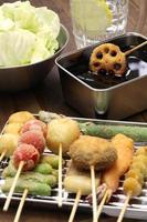 kushiage, japansk mat foto