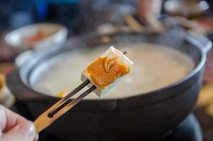 söt tofu, bönor ostmassa och sylt foto