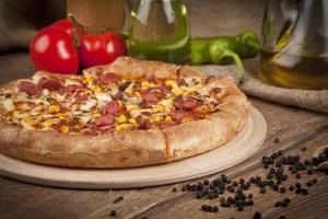 italiensk högsta pizza foto