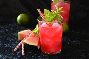 vattenmelon mojito foto