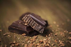 belgisk mörk choklad foto