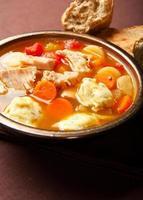 kalkon dumpling soppa foto