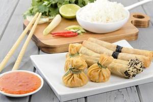 orientaliska snacks