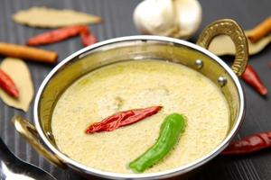 thailändsk grön curry foto
