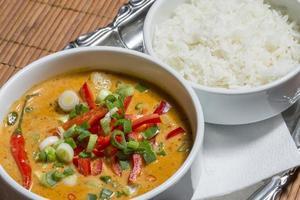 kryddig curry med grönsaker - Chiang Mei foto
