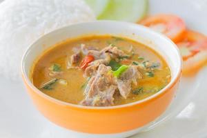 röd curry med nötkött foto