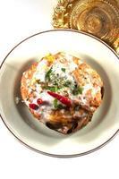 ångad fisk med curry pasta, thailändsk mat foto