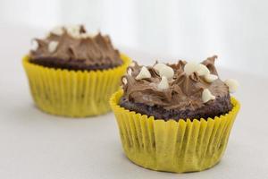 två muffins foto