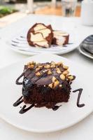choklad brownie foto