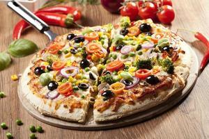 vegetarisk pizza