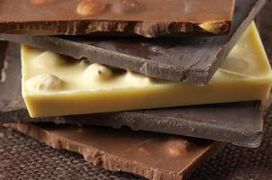 olika choklad foto