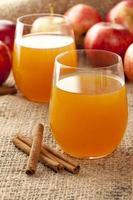 färsk ekologisk äppelcider foto
