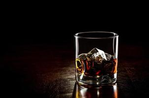 glas whisky med is