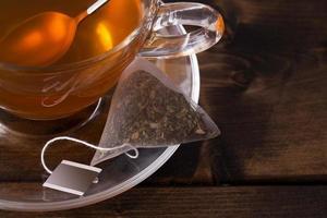 färskt glas kopp te foto