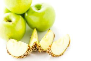 karamell äpplen foto