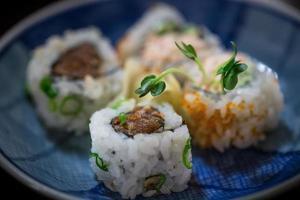 kryddig tonfiskrulle foto