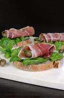 sandwich av jamon foto