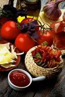pasta och ingredienser