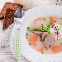 polska vita borscht foto