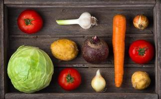 ingredienser för borscht, rödbetasoppa, rödbetasoppa. skörda veget foto