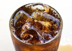 närbild av cola foto