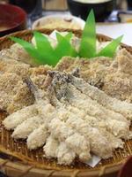 rå tempura foto