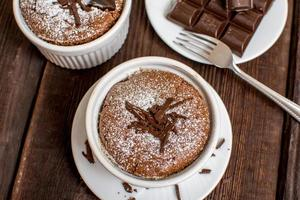 traditionell choklad souffle foto