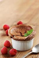 läcker individuell choklad souffle foto