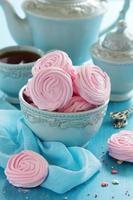rosa äppel marshmallows kokta hemma. foto