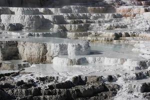 mammut varma källor - Yellowstone foto