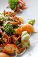vegetarisk spaghetti foto